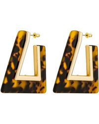 Rebecca Minkoff - Triangle Resin Hoop Earrings - Lyst