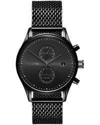 MVMT Men's The Slate Black Mesh Bracelet Watch
