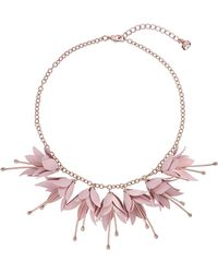 Ted Baker - Fuchsia Drop Flower Necklace - Lyst