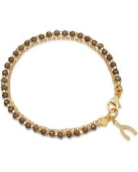 Astley Clarke - Smoky Quartz Wishbone Biography Bracelet - Lyst