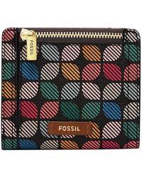 Fossil Logan Multi Small Bifold - Multicolour