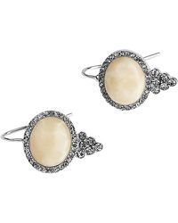 Samantha Wills Salt Water & Sage Petite Drop Earrings - Metallic