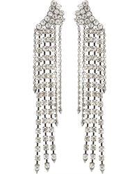 Rebecca Minkoff - Gemma Winged Crystal Fringe Earrings - Lyst