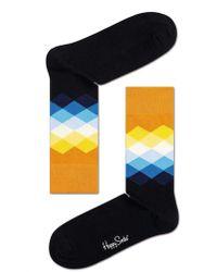 Happy Socks - Faded Diamonds Socks - Lyst