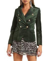 Lioness Palermo Velvet Jacket - Green