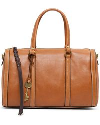 Fossil - Kendall Satchel Leather Brown - Lyst