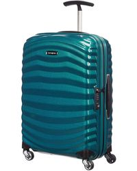 Samsonite - Lite Shock 55cm Spinner Petrol Blue Suitcase - Lyst
