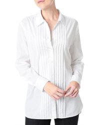 NYDJ - Loose Tuxedo Cotton Shirt - Lyst