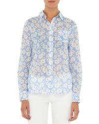 GANT - O2. Voile Crisp Island Flower Shirt - Lyst