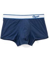 Ermenegildo Zegna Mens New Stretch Cotton Trunk - Blue