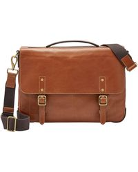 Fossil Buckner Messenger Bag Tan - Brown