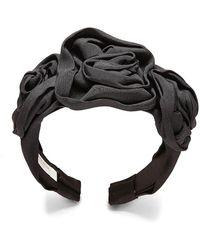 Jennifer Behr - Triple Rosette Faille Headband - Lyst