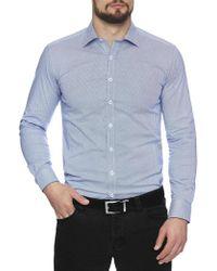 Geoffrey Beene | Elipse Stretch Print Body Fit Shirt | Lyst