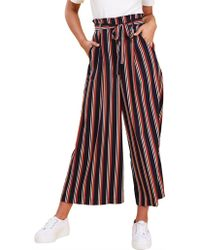 MINKPINK Illusions Stripe Cropped Pant - Multicolour