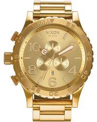 Nixon 51 - 30 Chronograph Watch - Metallic