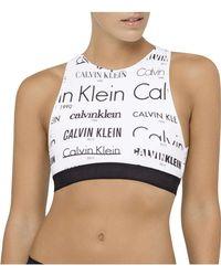 CALVIN KLEIN 205W39NYC - Heritage Logo Unlined Bralette - Lyst