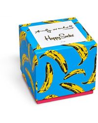 Happy Socks Andy Warhol 4pk Sock Box Set - Blue