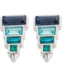 Rebecca Minkoff - Stacked Baguette Earring - Lyst
