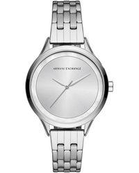 Armani Exchange - Harper Silver Watch - Lyst