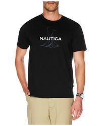 Nautica Anchor Flag Print Tee - Black