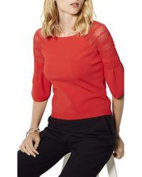 Karen Millen | Bell Sleeve Knitted Jumper | Lyst