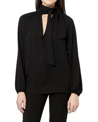 Theory Scarf Top Ls - Black