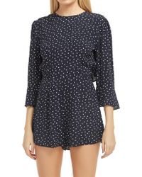The Fifth Label Amore Long Sleeve Playsuit - Blue