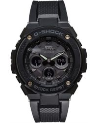 G-Shock - G Steel, Duo Mid Size,blk Face & Case, Blk Resin Bnd - Lyst