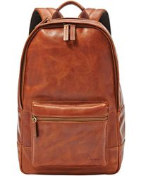 Fossil Estate Leather Backpack - Brown