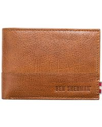 Ben Sherman - Centrefold Textured Wallet With Id Window And Coin Pouch - Lyst