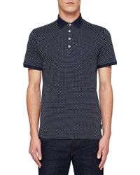 44718df2adeb75 David Jones · Ted Baker - Boxer Triangle Yardage Print Polo W  Knitted  Collar - Lyst