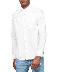 G-Star RAW - H-a Utility Straight Shirt L/s - Lyst