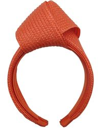 Morgan Taylor Pp Braid Knot Turban On Headband - Orange