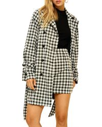 MINKPINK - Houndstooth Trench - Lyst