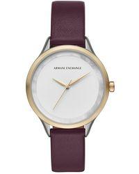 Armani Exchange - Women's Purple Watch - Lyst
