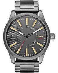 DIESEL - Rasp Grey Watch - Lyst