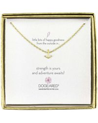 Dogeared Mini Anchor Little Bits Of Happy Boxed Reminder Necklace - Metallic