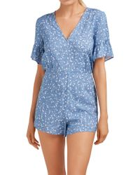 The Fifth Label Celebrated Playsuit - Blue