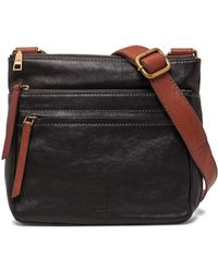 Fossil - Corey Black Crossbody - Lyst