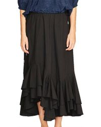 Lee Mathews - Miller Cotton Poplin Ruffle Skirt - Lyst