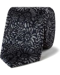 Ted Baker - Silk Outlined Floral 7cm Tie - Lyst