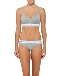 Calvin Klein - Modern Cotton Bralette Lightly Lined - Lyst
