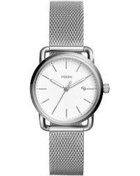 Fossil - The Commuter Silver Watch - Lyst