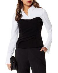 Karen Millen - Corset Shirt - Lyst