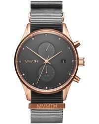 MVMT Voyager Collection Men's Multifunction Graphite Nato Strap Watch - Gray