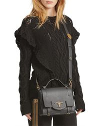 Polo Ralph Lauren Ruffle-trimmed Cable Jumper - Black