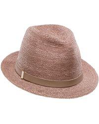 Lyst - Helen Kaminski Sefa Woven Hat in Brown 20ee8be62c08