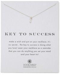 Dogeared Key To Success Reminder Necklace - Metallic