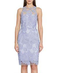 Reiss - Meghan-floral Lace Dress - Lyst