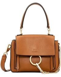 Chloé Faye Day Mini Leather Shoulder Bag - Brown